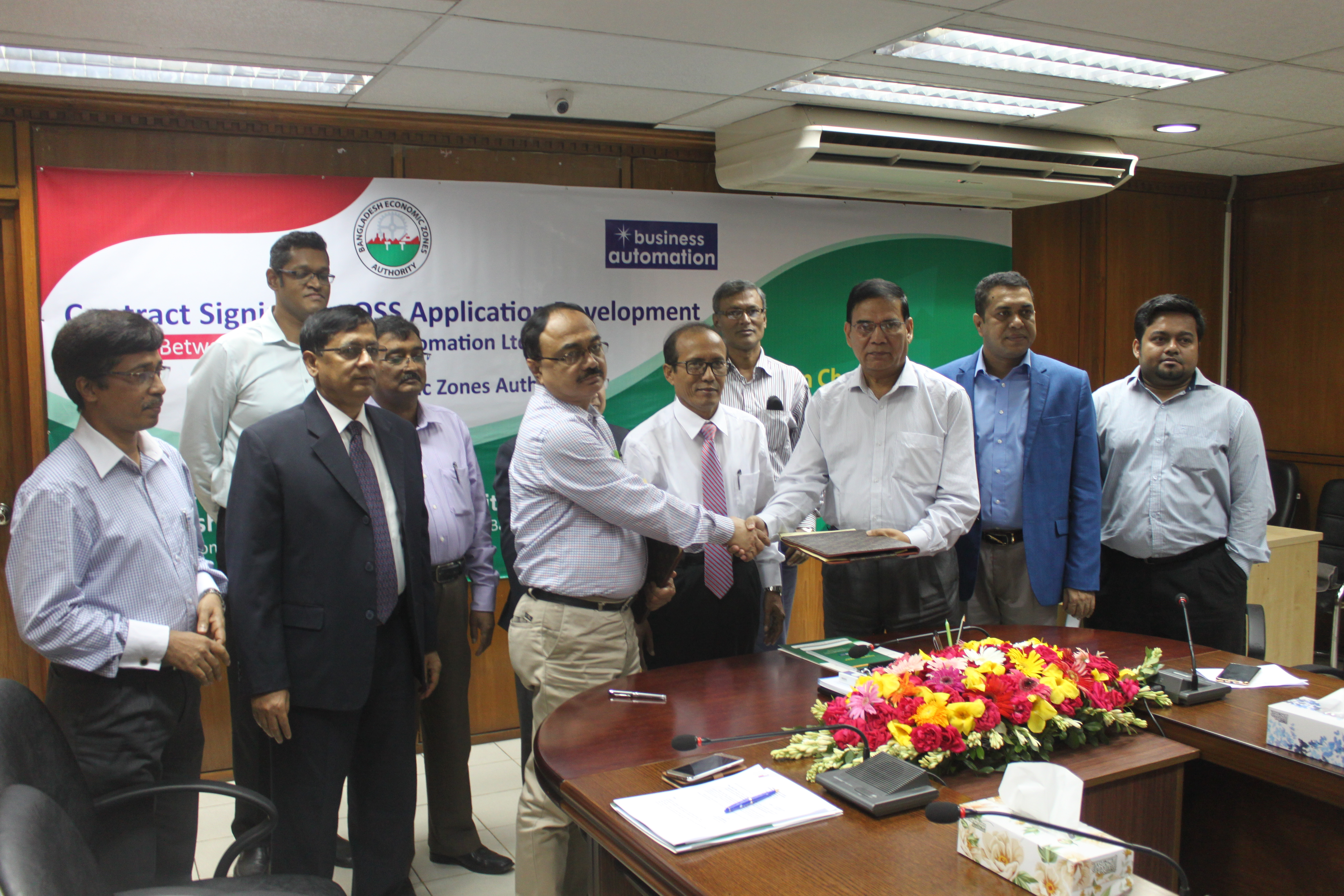 Contract Signing for OSS Application Development between Business Automation Ltd.